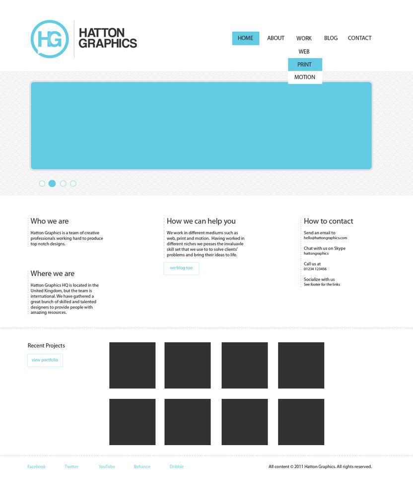 Minimalistic Website Mock Up by HattonGraphics on DeviantArt