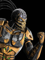 Scorpion Cyborg mortal kombat by corporacion08
