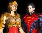 injustice gods among us superman and wonder woman