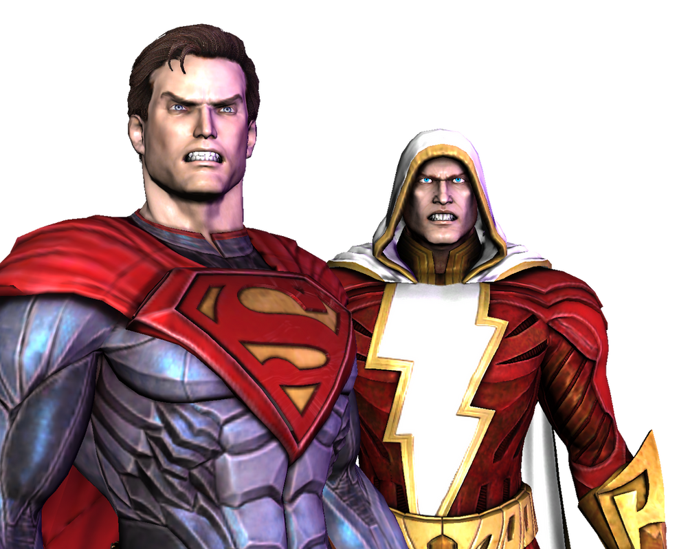 Injustice Gods Among Us Superman And Shazam By Corporacion08