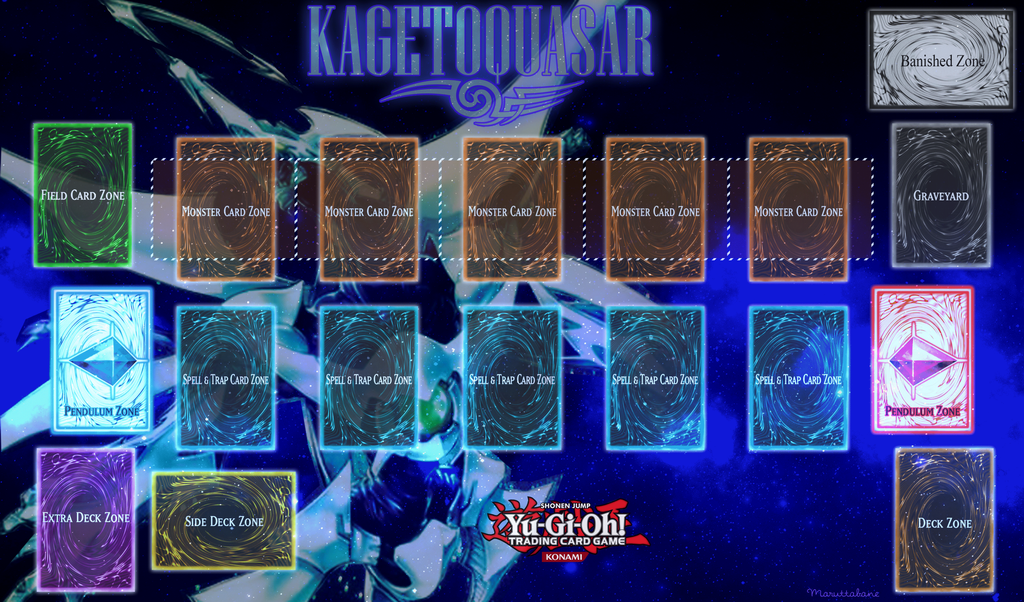 Kagetoquasar playmat pendulum yu gi oh by maruttabane on for Yugioh mat template