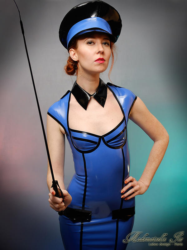 Mademoiselle Ilo - Aviatrix latex dress - Model Ma by Mademoiselle-Ilo