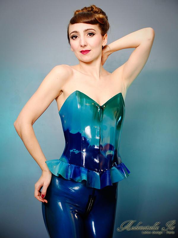 Mademoiselle Ilo - Marble corset with legging - Mo by Mademoiselle-Ilo