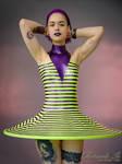 Mademoiselle Ilo - Plan 9 latex dress - Model Bill