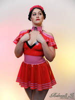 Mademoiselle Ilo - Maria latex skirt with Marnie t by Mademoiselle-Ilo