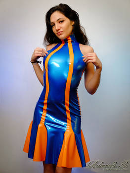Mademoiselle Ilo - Berlingo latex dress - Model Sa