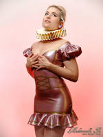 Mademoiselle Ilo - Paloma latex dress - Model Nova by Mademoiselle-Ilo