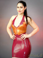 Mademoiselle Ilo - Spencer latex dress - Model Moo by Mademoiselle-Ilo