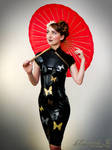 Mademoiselle Ilo - Madame Butterfly latex dress -