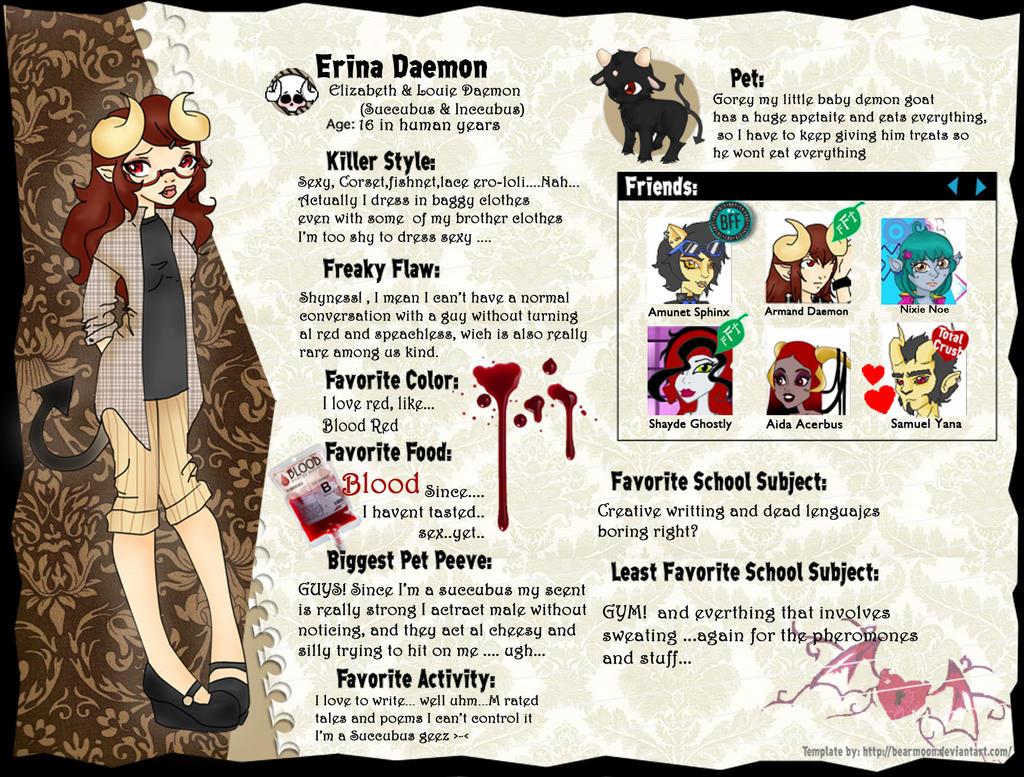 Erina Daemon Bio by LilithIrina