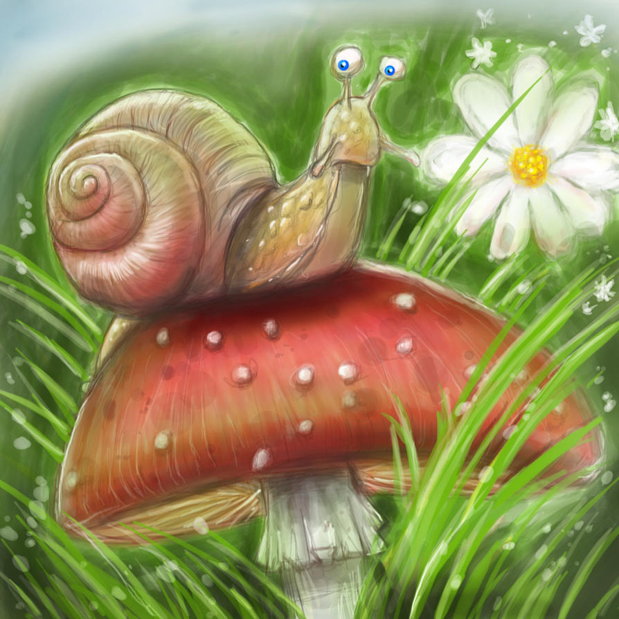 Digital painting de Traaw : Digit en vrac - Page 3 Escargot_by_traaw-d7cigfn