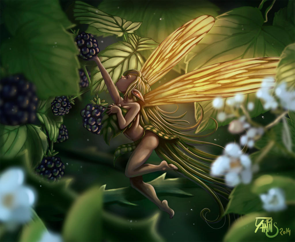 Digital painting de Traaw : Digit en vrac Fairy_and_blackberry_by_traaw-d7ls6q5