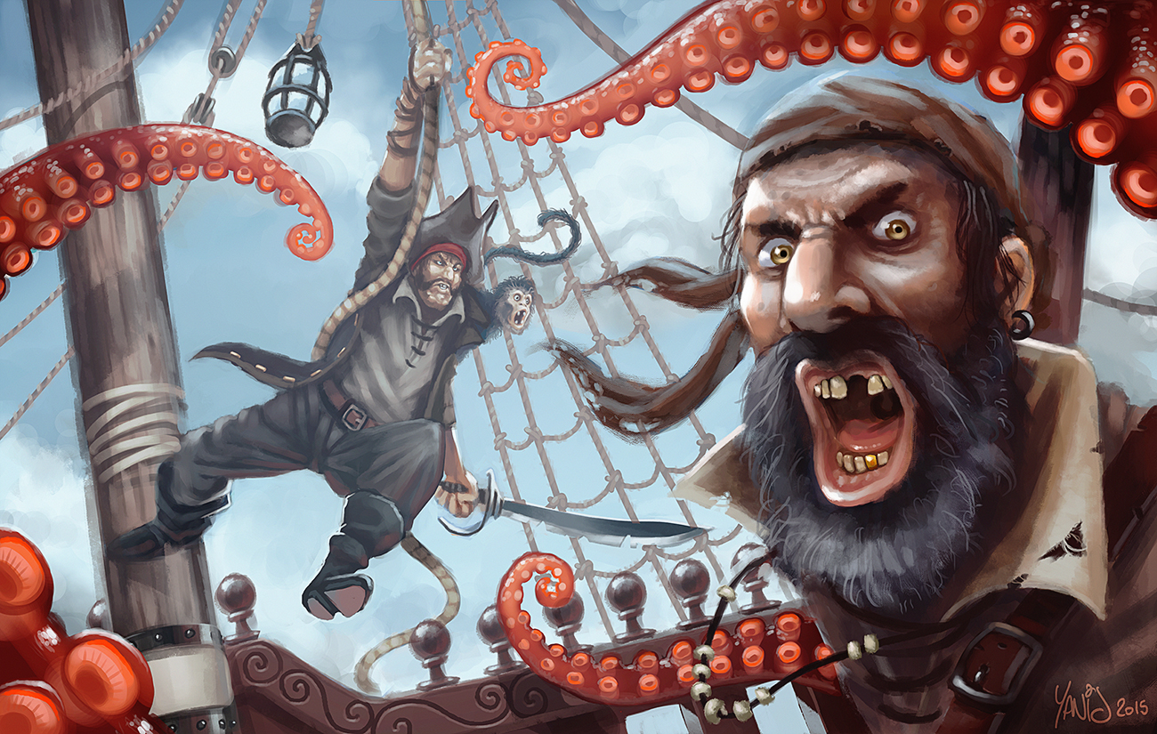 Digital painting de Traaw : Digit en vrac - Page 5 Kraken_attack_by_traaw-d8s5fgj