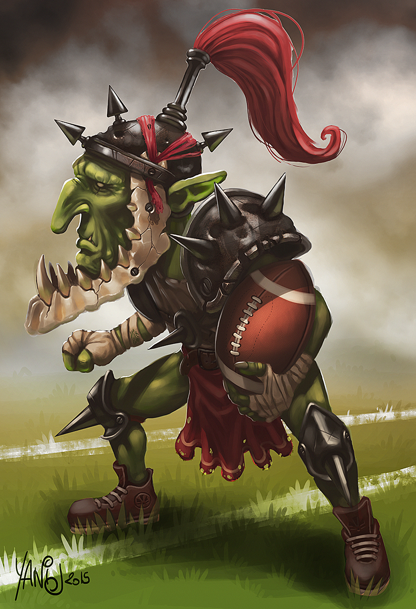 Digital painting de Traaw : Digit en vrac - Page 5 Blood_bowl_goblin_by_traaw-d8treqt