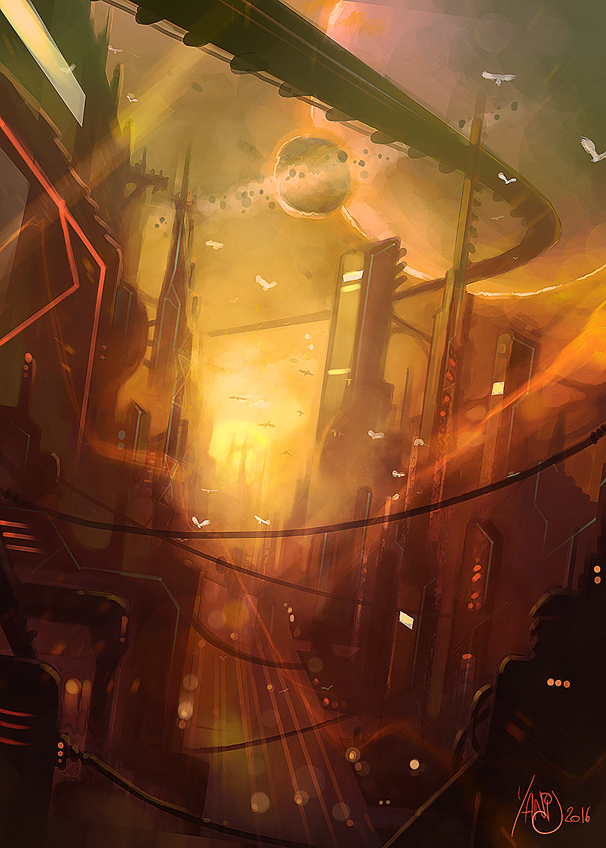 Digital painting de Traaw : Digit en vrac - Page 7 Reptilian_cities_by_traaw-d9muk1s