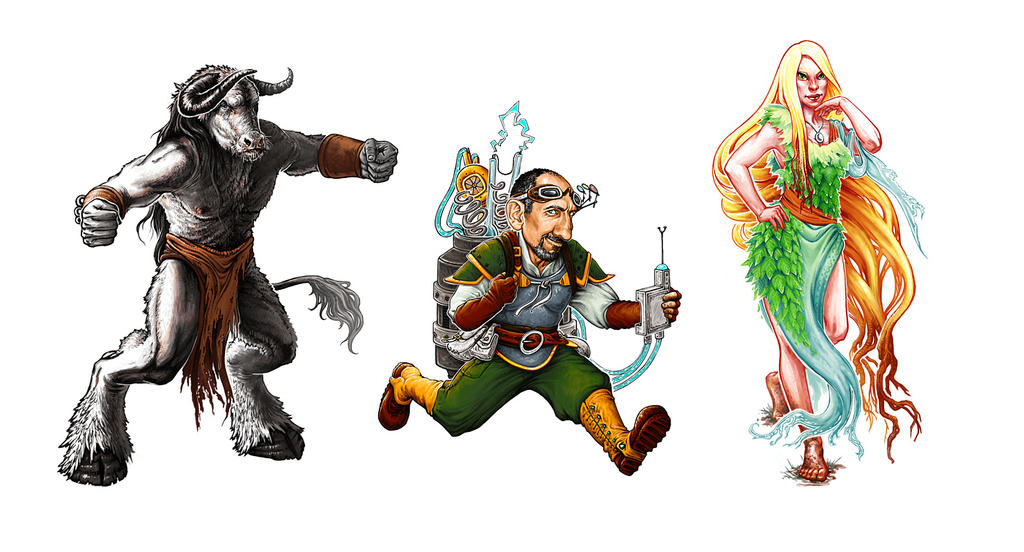 Imperial Harvest Characters by audreyfry