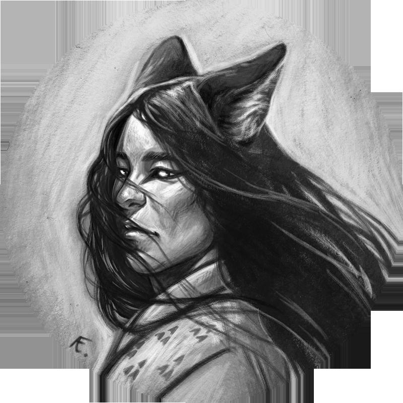 Kitsune Portrait 01 by audreyfry