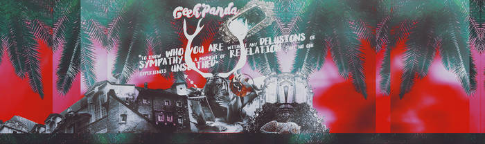 ~ To know who you are #ordered #geekpanda #header