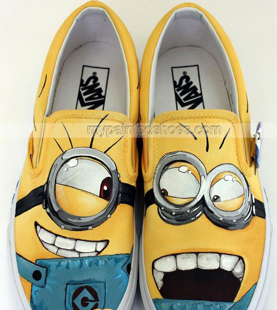 minions shoes minions slip on painted canvas shoes by ajdv