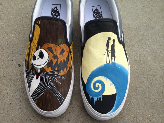 29e5c43c7f Nightmare Before Christmas Vans Shoes Hand Painted by ajdv on DeviantArt