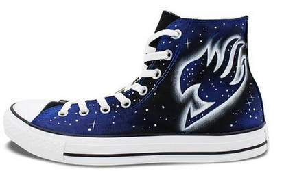 Anime converse chuck taylor Fairy Tail shoes