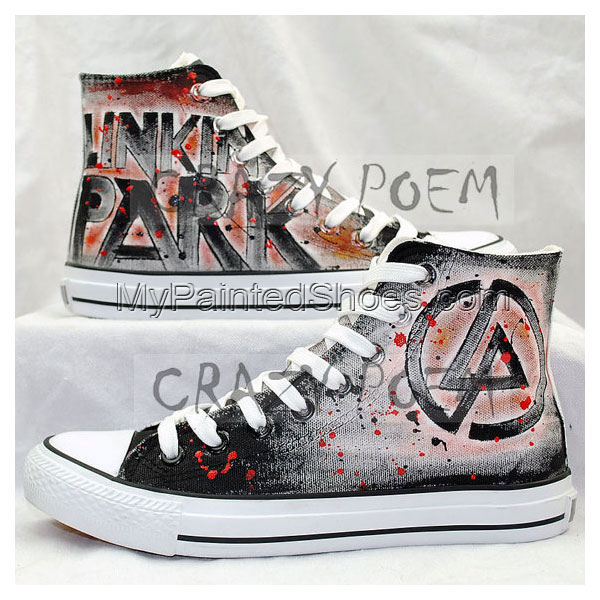 cfe907b62893 Linkin Park Hand Painted Converse Shoes by ajdv on DeviantArt