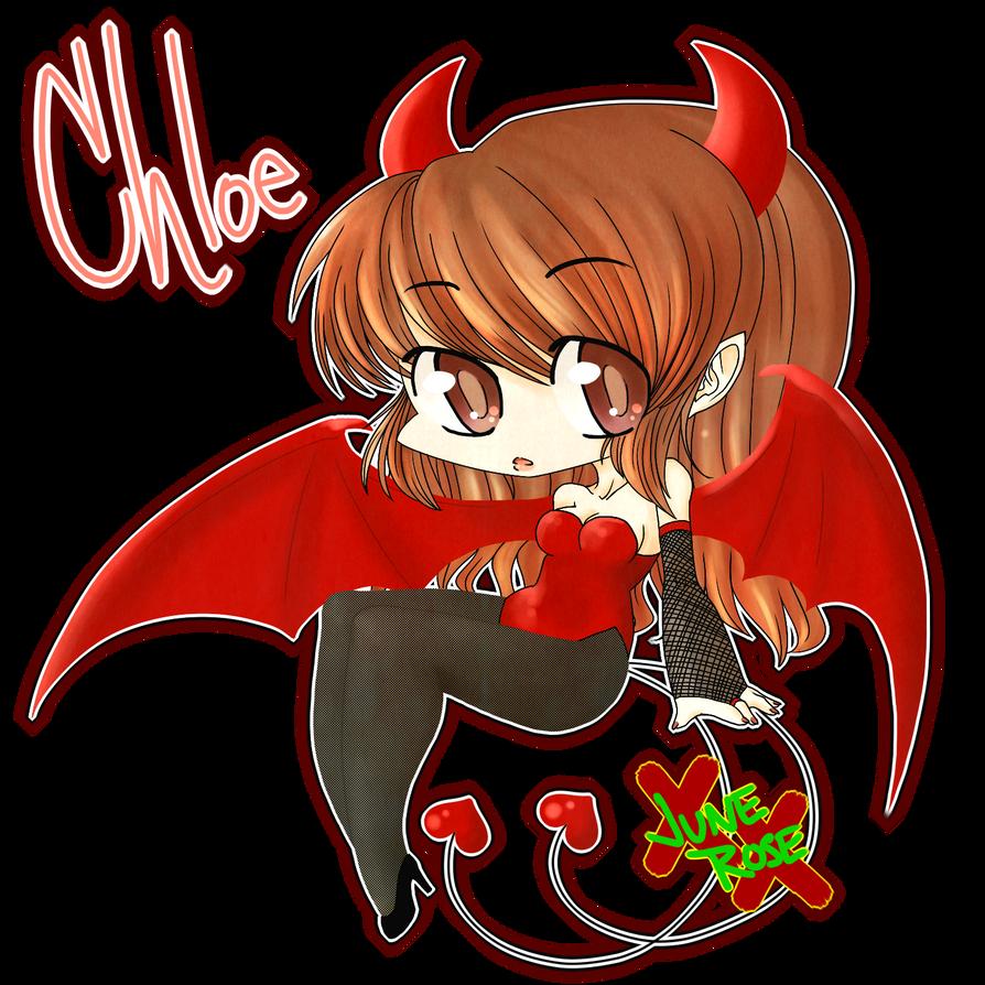 $5ChibiComm.: Chloe the Succubus by JuneRoseXX