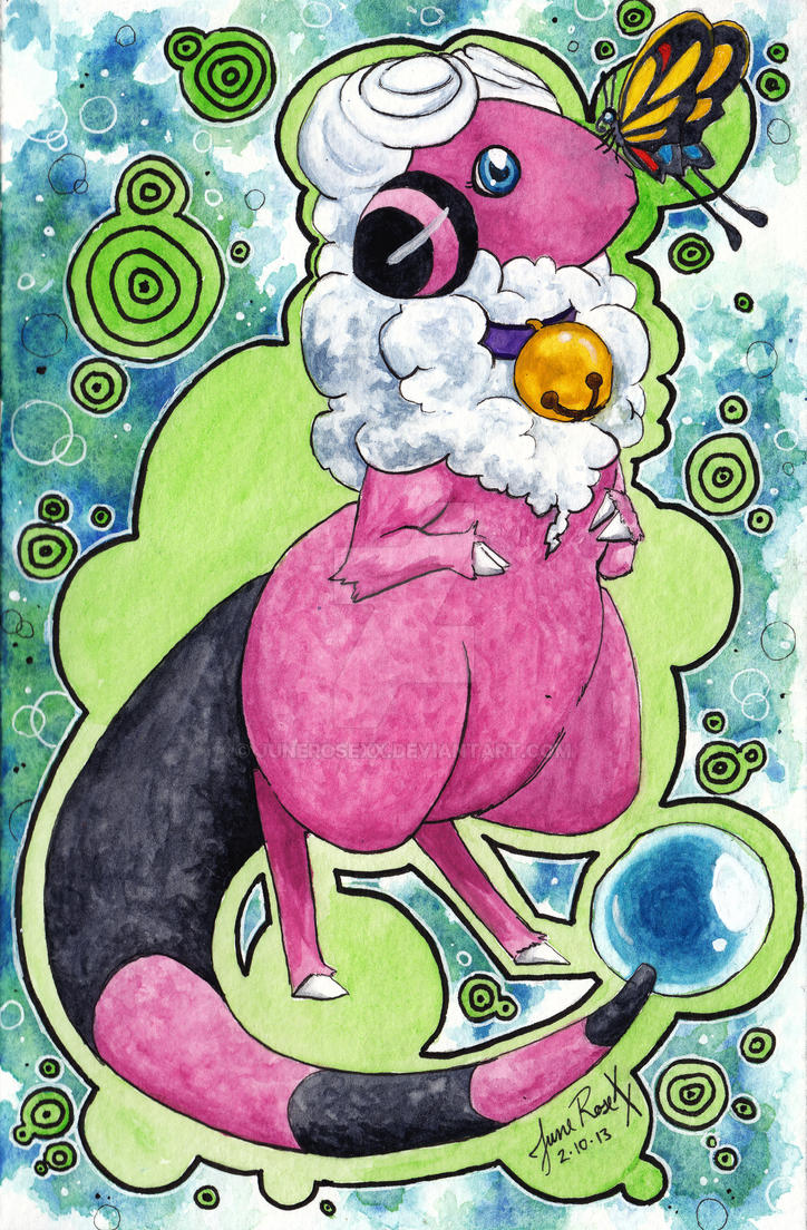Pokemon Watercolor - 180. Flaaffy by JuneRoseXX