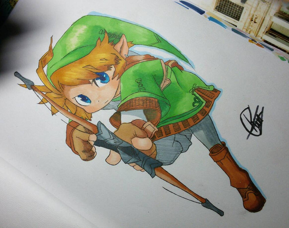 Link From Legends Of Zelda Chibi by rafaT007