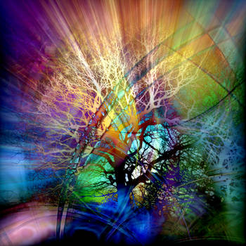 The Psychedelic Electric Tree by worksteady