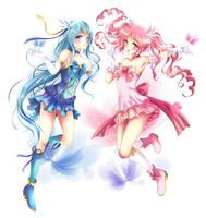Commission: Pinku and Cyan