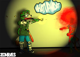 Zombie Attack by Whatupwidat