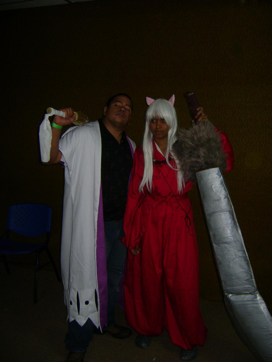 zaraki and inuyasha cosplay by hina590