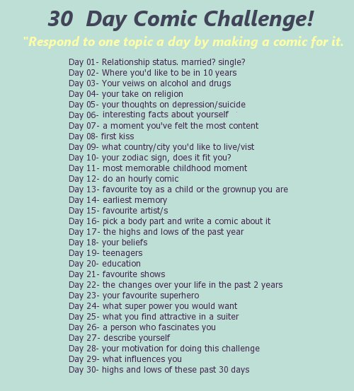 Character Design Drawing Challenge : Day comic challenge by miquashi on deviantart