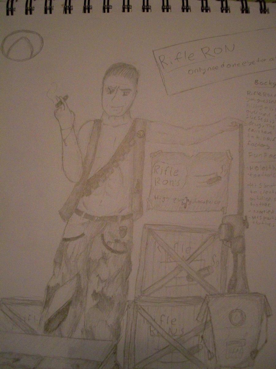 Rifle Ron (Borderlands Fan Art) by Redcozy