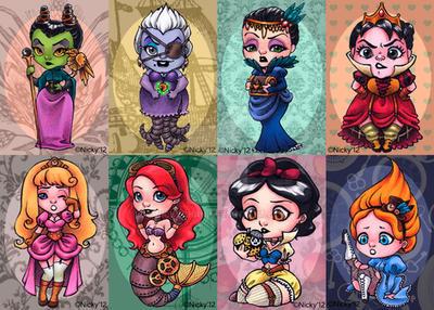 Steampunk Disney Designs by Nickychan