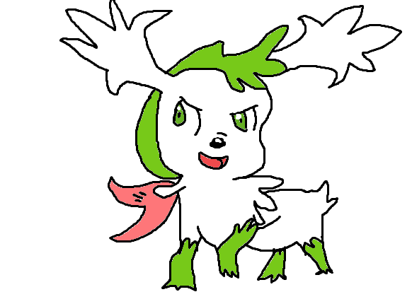 Shaymin Sky Form Drawing by