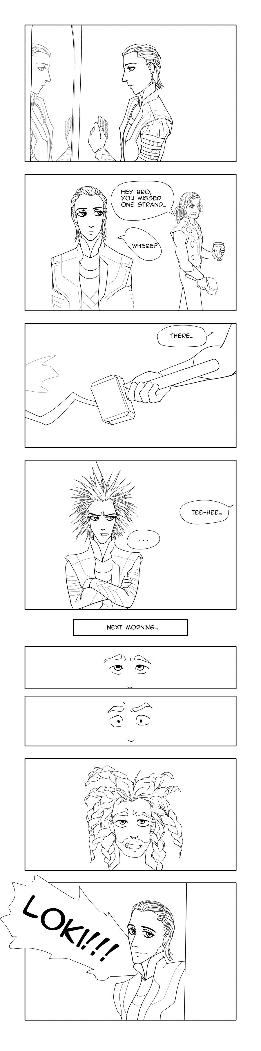 Loki vs Thor by Ka-ren