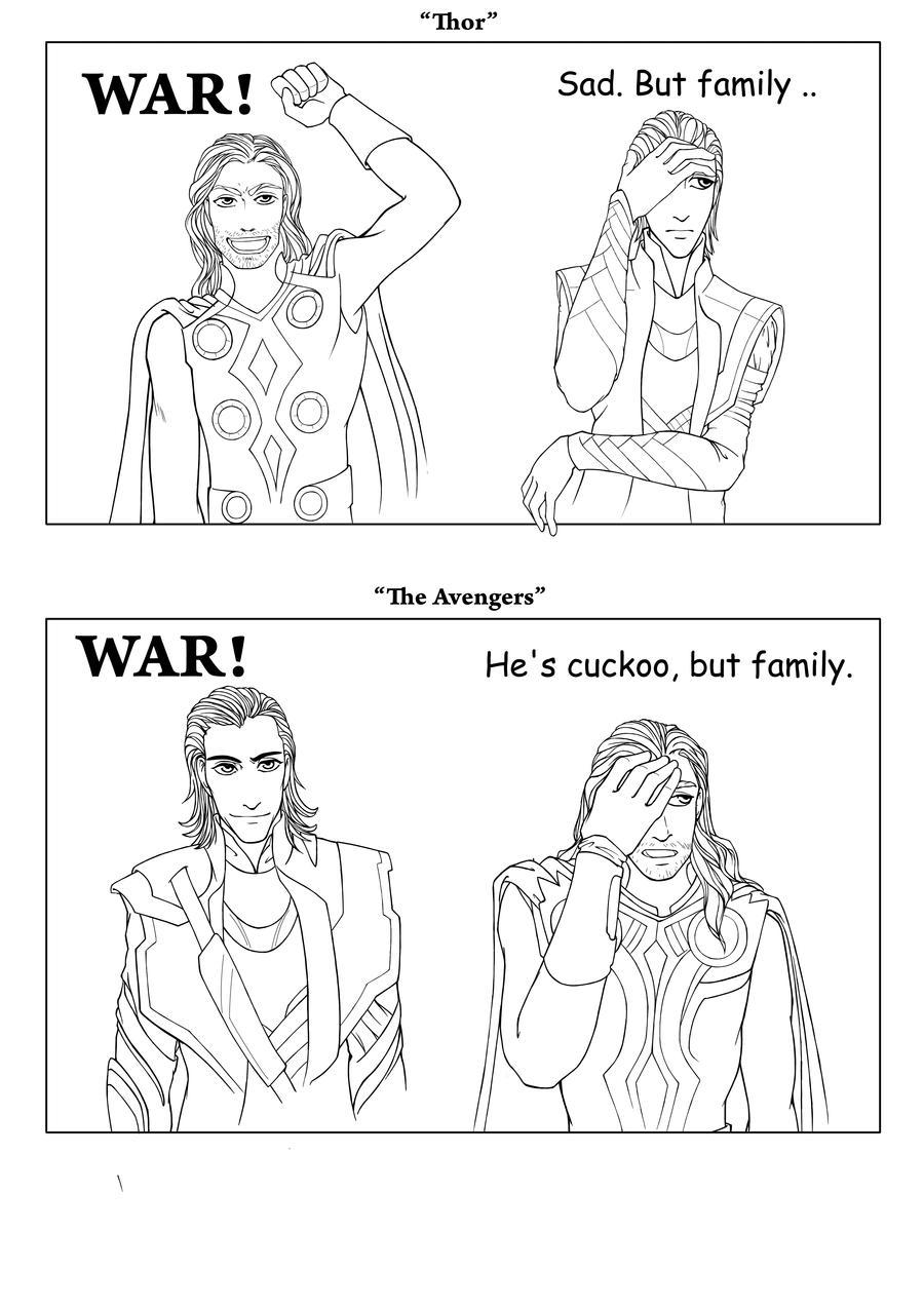 Thor and Loki by Ka-ren