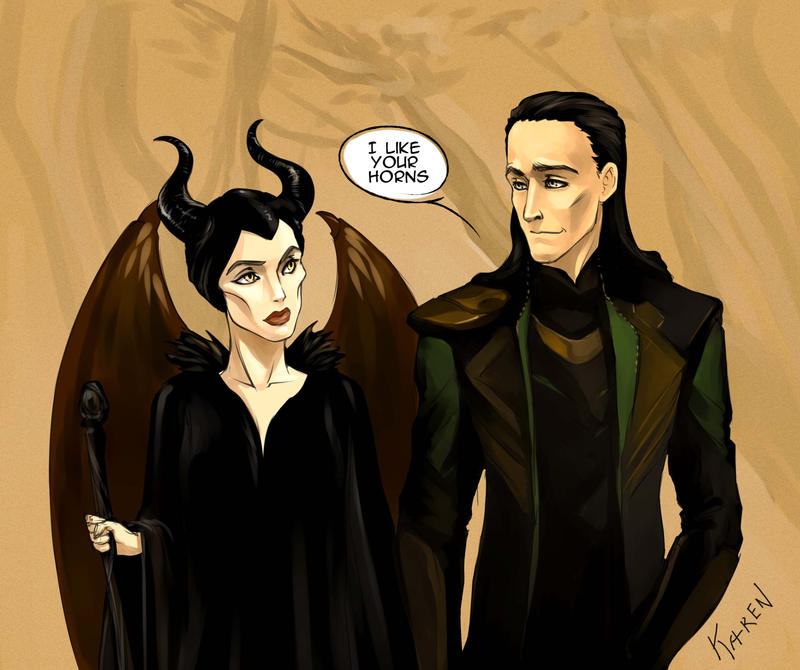 Maleficent and Loki by Ka-ren on DeviantArt I Am Really Sorry Wallpaper