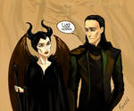 Maleficent and Loki by Ka-ren