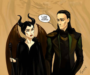 Maleficent and Loki