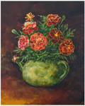 Tagetes in the teapot
