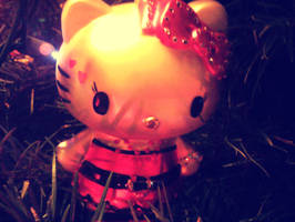 Hello Kitty Ornament by sparkly-purple-ninja