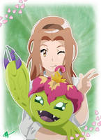 Mimi and Palmon - Digimon Adventure Tri by Fayrin-kun