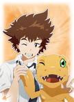 Taichi and Agumon - Digimon Adventure Tri