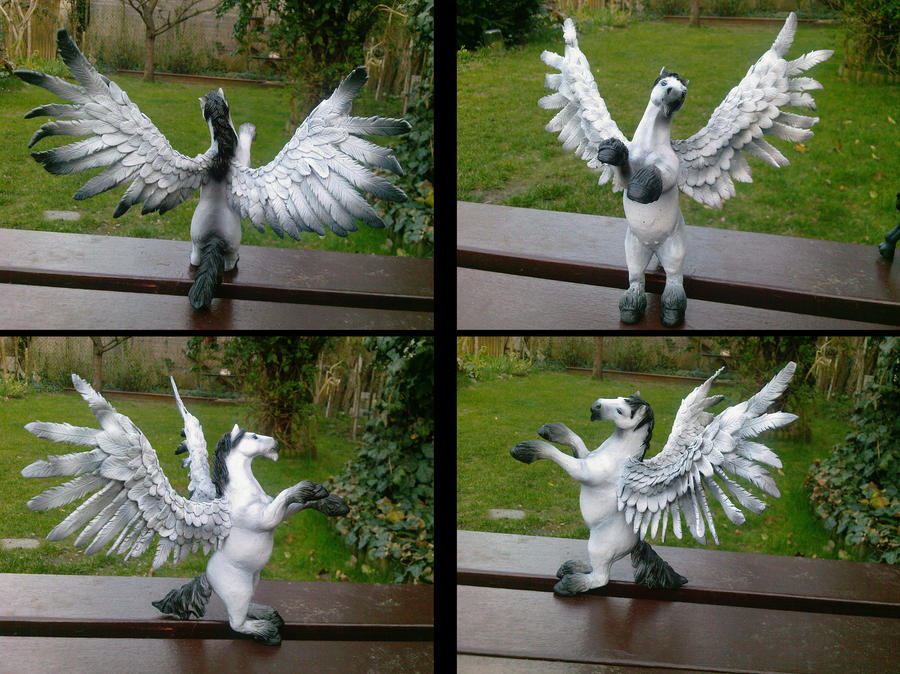 Pegasus sculpey painted by ravenoo