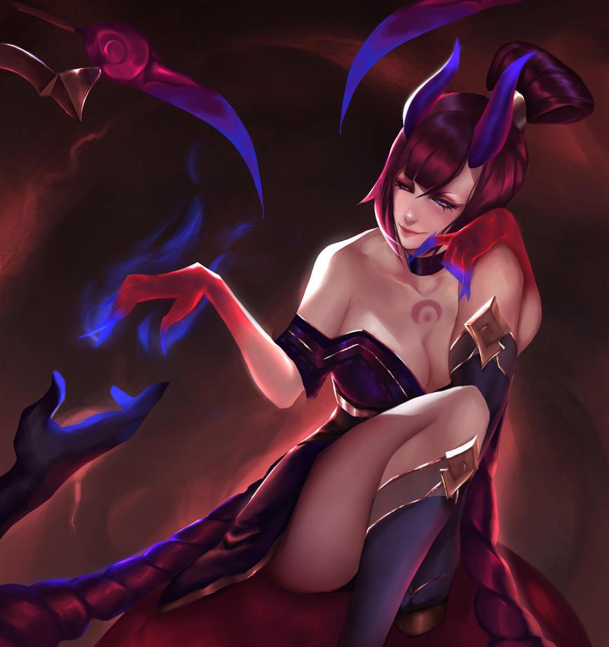 Bloodmoon Evelynn by Sayomi96