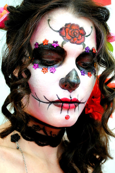 sugar skull makeup wallpaper - photo #7