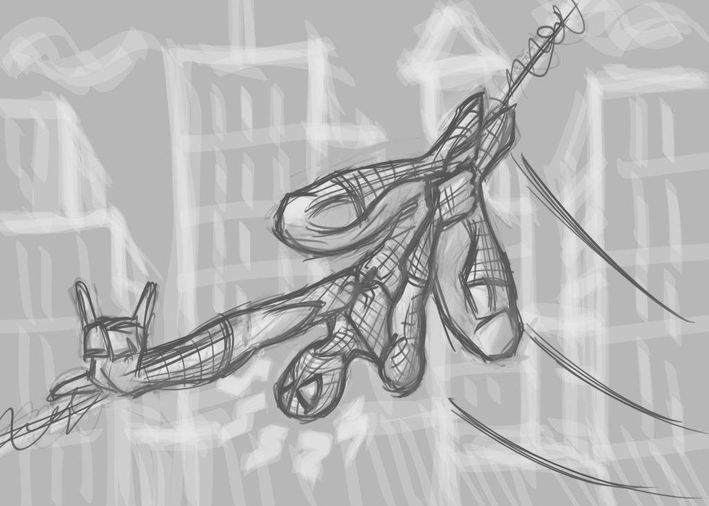 SpiderManSketch3.19.17 by Radicaljman
